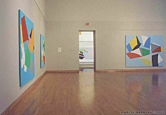 "View of the exhibition ""Marcel Barbeau Drifts and Variations 2"" at Centre d'exposition de Baie Saint-Paul, September 2003. Photo François Rivard for Marcel Barbeau. © ADAGP - Paris for Marcel Barbeau."