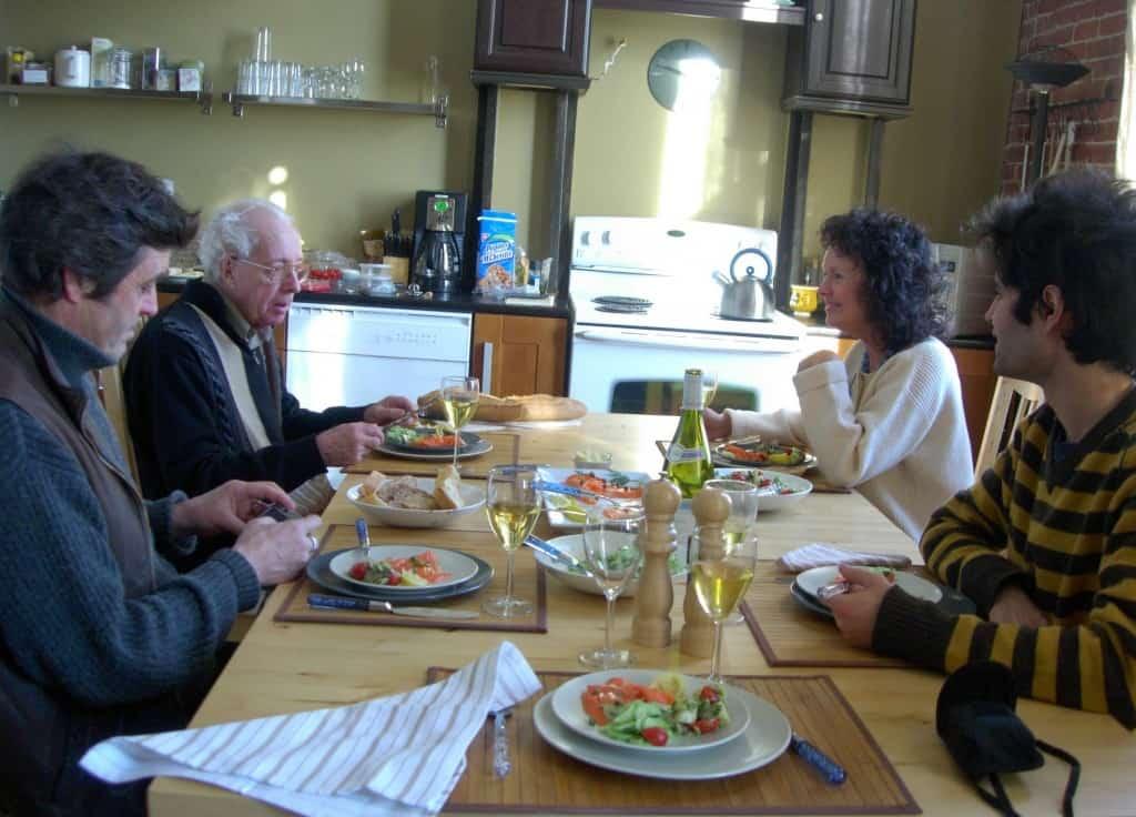 Déjeuner de famille au Château St-Ambroise, Janvier 2007.
