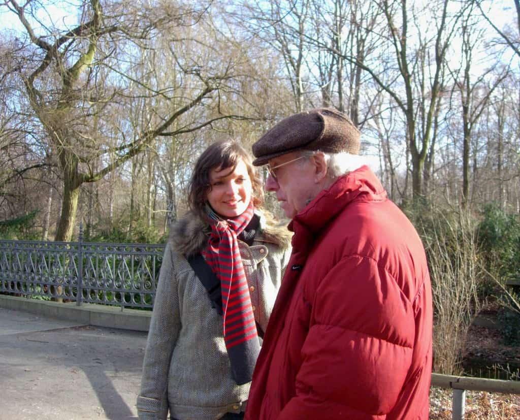 Anaïs Barbeau-Lavalette et Marcel Barbeau, son Grand-Père, à Tiergerten à Berlin.