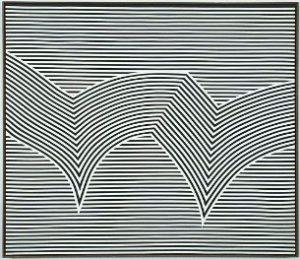Manon à New York, 1965 Acrylique sur toile, 122 X 122 cm Don de Arthur Ruddy © Succession Marcel Barbeau